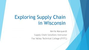 Icon of Exploring The Supply Chain  Kerrie Marquardt